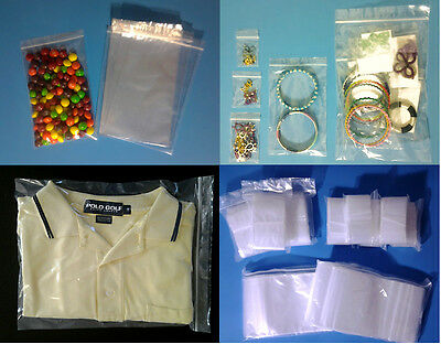 Clear Plastic Ziplock Reclosable 2-Mil Poly Seal Bags Coins/Jewelry Zipper Bag