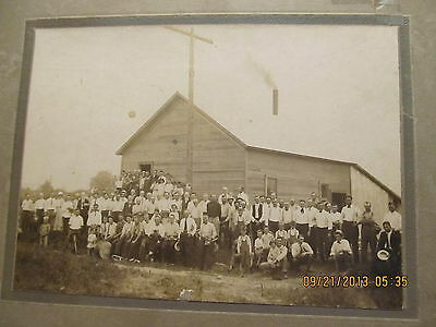 Vintage Cabinet Photo Employees & Friends of Sumner IL Creamery Opening Day 1915