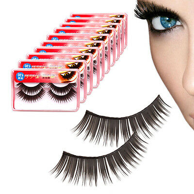 New 20 Pairs Soft Synthetic Fiber False Eyelashes Makeup Eye Lashes 11 mm C-49