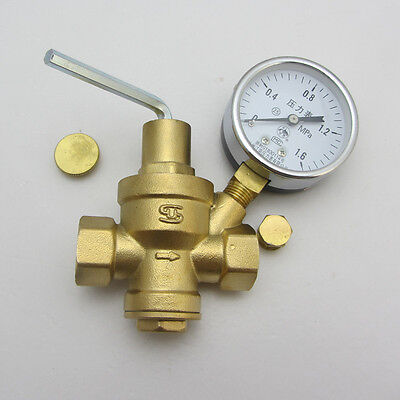 "1/2""Water pressure reducing valve line relief valve with guage reducing valve"