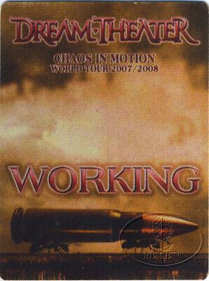 DREAM THEATER 2007-08 CHAOS IN MOTION TOUR Backstage Pass