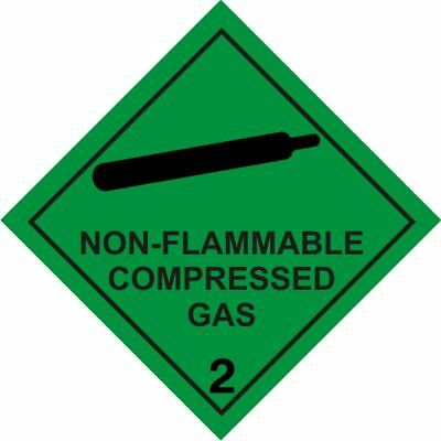 MAGNETIC  Non Flammable Compressed Gas Class 2 Warning , Car