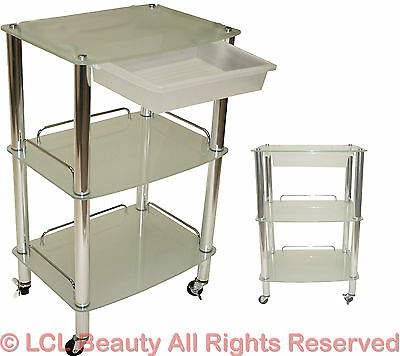 Glass Cart Trolley Doctor Dentist Medical Kitchen Trolly Beauty Salon Equipment