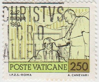 (VA192) 1981 VATICAN 250l pope blessing sick man ow773