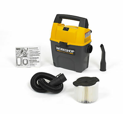 WORKSHOP Wet Dry Vacs WS0300VA Portable Wet Dry Shop Vacuum 3-Gallon 3.5 Peak HP