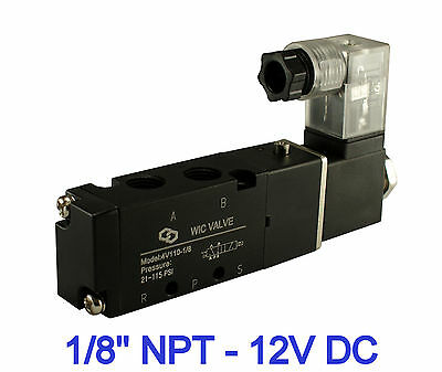 "1/8"" Inch Pneumatic 4 Way Electric Directional Control Air Solenoid Valve 12V DC"