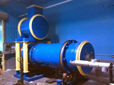 500 lb/hr Rotary Kiln Dryer Gasifier Incinerator