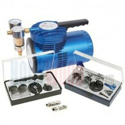 Complete Airbrush Kit With 2 Airbrushes & 2 Couples