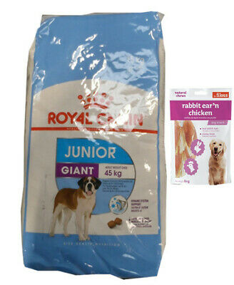 15kg Royal Canin  Giant Junior +  80g Fleischsnacks