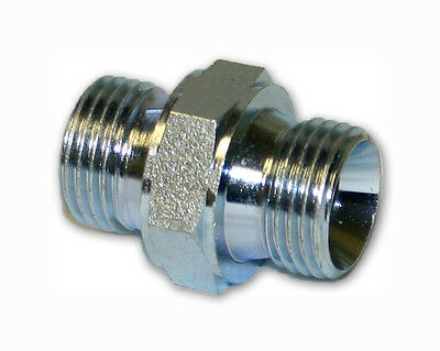 "Hydraulic Male Adaptor Nipple - Bspp X Bspp - All Sizes 60° Cone, 1/8"" To 1"""