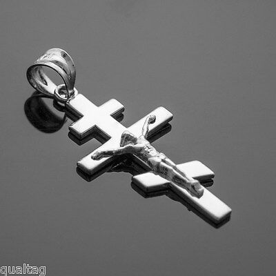 925 Sterling Silver Russian Orthodox Crucifix Pendant