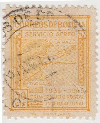 (BO41) 1945 Bolivia 50c orange Air ow434