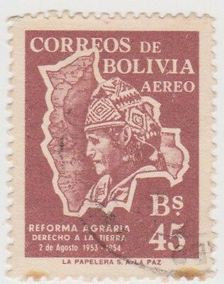 (BO80) 1954 Bolivia 45b purple air ow604