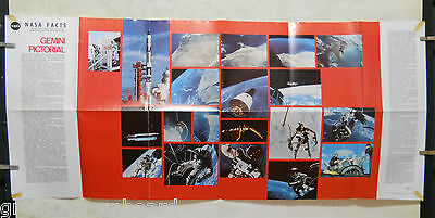 1966 NASA FACTS America in Space NF-30 GEMINI Orbital Space Flight Color Poster
