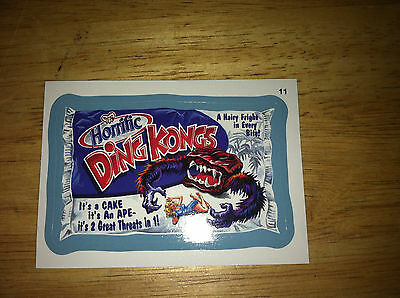 WACKY PACKAGES ANS11 11 BLUE BORDER STICKER HOSTESS DING DONGS KING KONG MIGHTY