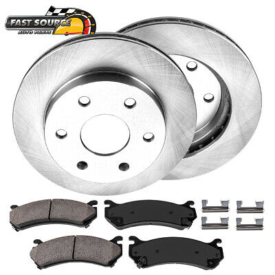 Front Black Brake Rotors /& Carbon Ceramic Pads For Escalade Silverado Yukon