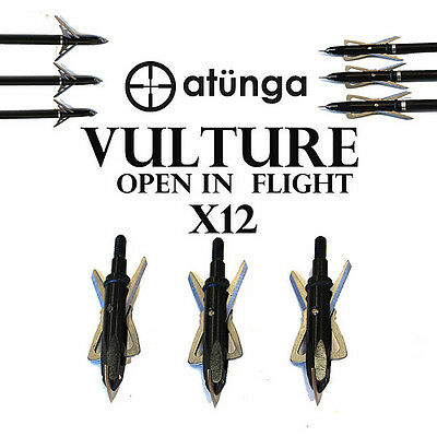 12X Open In Flight Vulture Broadheads With Shocklock System Archery Compound Bow