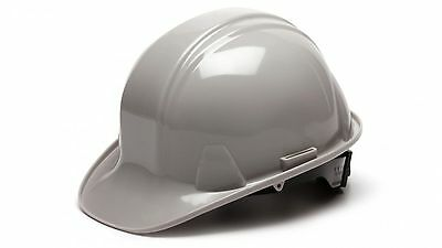Pyramex HP14112 GRAY 4 Point Safety Cap Style Hard Hat Ratchet Suspension