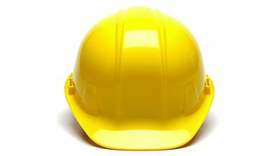 Pyramex HP14130 YELLOW 4 Point Safety Cap Style Hard Hat Ratchet Suspension