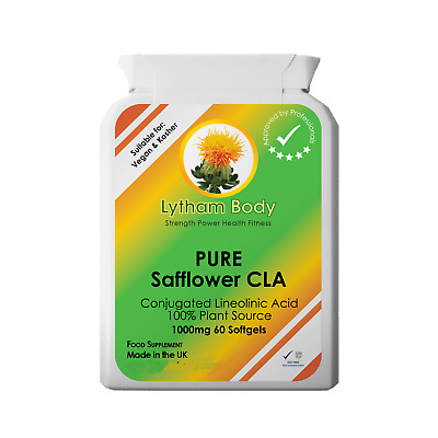 CONJUGATED LINOLEIC ACID SAFFLOWER OIL 1000MG x 60 SOFTGELS CLA REDUCE BELLY FAT