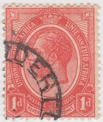 (RSA11) 1913 South Africa 1d red George V (B) ow4