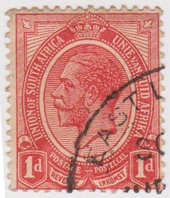 (RSA13) 1913 South Africa 1d red George V (D) ow4