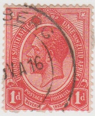(RSA15) 1913 South Africa 1d red George V (F) ow4