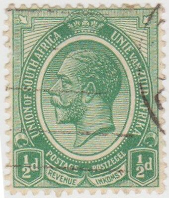 (RSA7) 1913 South Africa ½d green George V (D) ow3