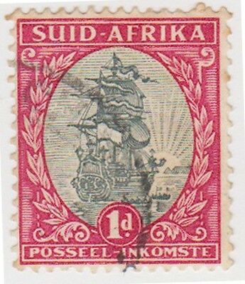 (RSA70) 1927 South Africa 1d red & black (Suid) (C)