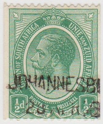 (RSA9) 1913 South Africa ½d green George V (F) ow3