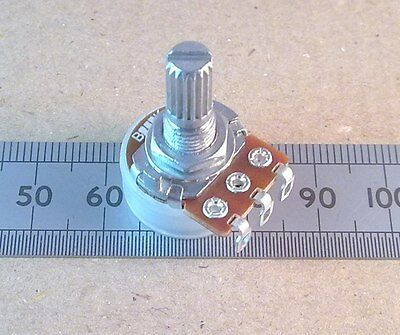 Solder Lug Connection 16mm Linear Potentiometer, Mono Pot