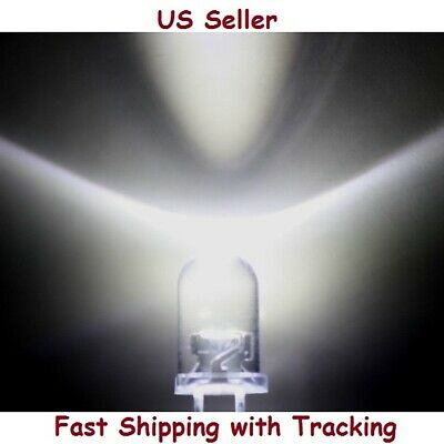 30 PCS 5mm Bright Round White LED - US Seller, Fast Shipping with Tracking