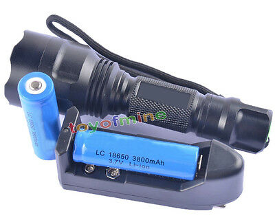 UltraFire C8 CREE XM-L XML T6 1300LM Flashlight+2x 18650 3800mAh battery+Charger