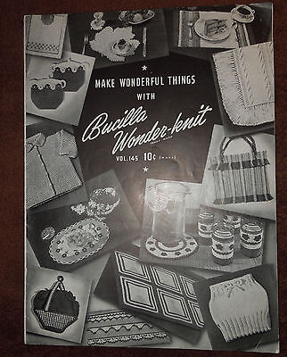 Vintage Gay & Gifty Pot Holders Directions Booklet c.1943 Make Wonderful Things