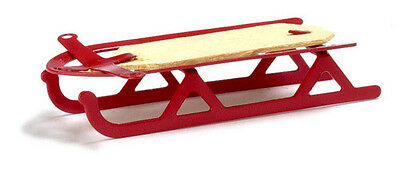 Dollhouse  Miniature Red Sled
