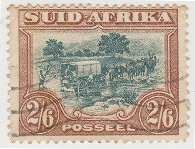 (RSA135) 1926 South Africa 2/6d wagon x2 (Suid &South)