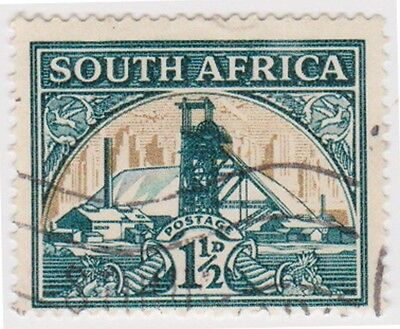 (RSA149)1933SouthAfrica1½dgreen&gold goldmineMintD)ow57