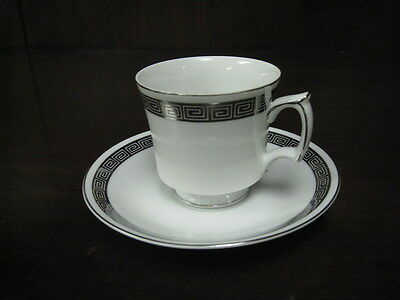 Harmony House Romaic 3671 Footed coffee cup and saucer set sets cups