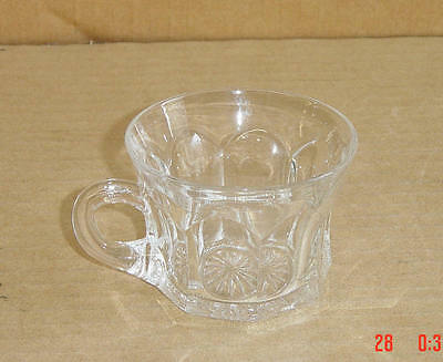 EAPG CRYSTAL COLONIAL PANEL #331 CUP DIAMOND MARKED HEISEY GLASS 1907