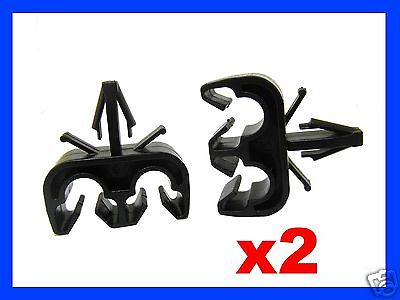 2 Brake Pipe Line Cable Holder Clip Maximum Diameter 6.5Mm Fits 6Mm Hole