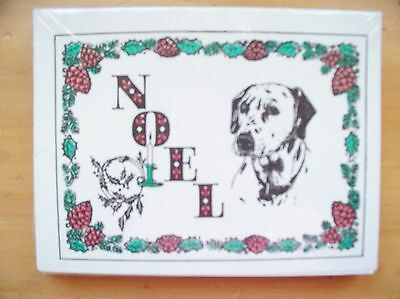 Pack of 12 - Designer Sheets Dalmatian Noel Christmas Holiday Cards