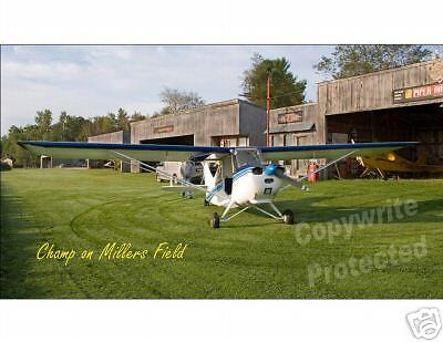 Aeronca Champ On Millers Field Grass Strip Photo Poster
