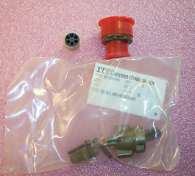 Qty(5) Ms3106E14S-6P Itt 6 Pin Circular Connector W/ 057-0364-014 End Bell Assy
