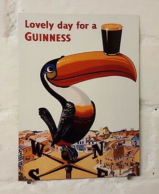 Guinness Retro metal Aluminium Sign vintage bar pub man cave beer signs.shed den