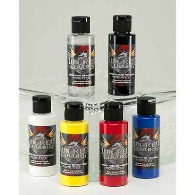 Createx Wicked Primary Set 6 x 2oz (60ml)