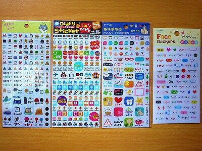 New Taiwan Diary Day Planer Organizer Mate Decoration Happy Stickers 4 Styles