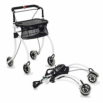 Roomba Lightweight Folding Rollator 4 Wheel Walker Frame Mobility Disability Aid