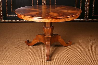 A-41 South Germany Biedermeier Table Nut Tree 1825