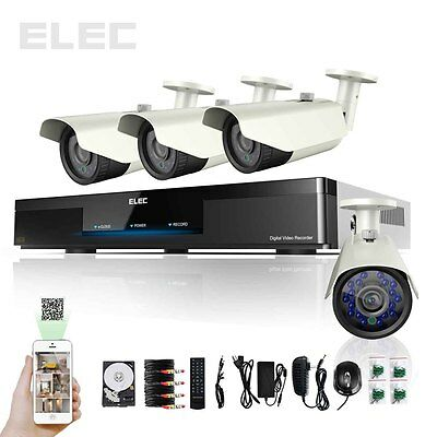 ELEC® 4CH Channel HDMI Outdoor CCTV DVR Home Video Security Camera System 1TB HD