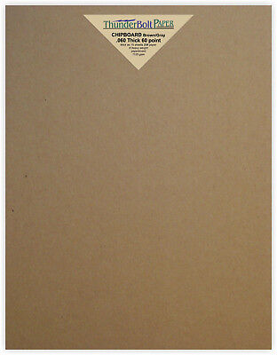 Chipboard Paper Sheets 60 point .60 X Thick PaperBoard Cut Sizes Brown Kraft
